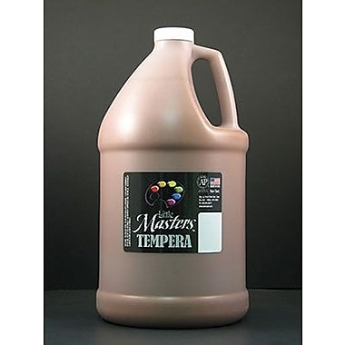 Little Masters Non-toxic 128 oz. Tempera Paint, Brown (RPC204750)