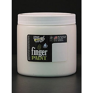 Handy Art Non-toxic 16 oz. Washable Finger Paint, White (RPC241005)