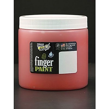 Handy Art Non-toxic 16 oz. Washable Finger Paint, Orange (RPC241015)
