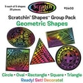Scratch Art Geometric Scratchin Shapes Group Pack
