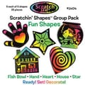 Scratch Art Fun Scratchin Shapes Group Pack