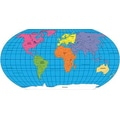 Shapes Etc World Labeled Practice Map Notepad, 9in. x 16in.