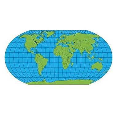 Shapes Etc World Unlabeled Practice Map Notepad, 9