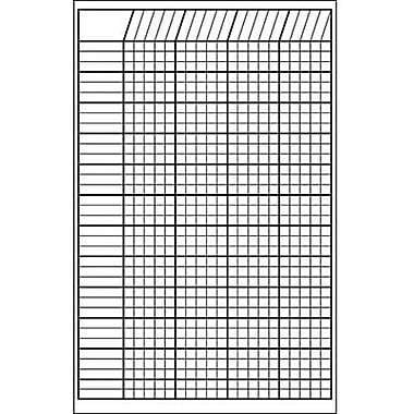 Shapes Etc Vertical Incentive Chart, White