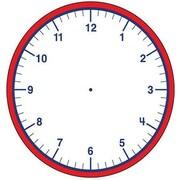 """Shapes Etc 5"""" x 7"""" Clock Large Notepad"""