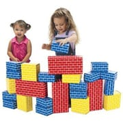 Smart Monkey® Giant Rainbow Building Block Set, 24/Set