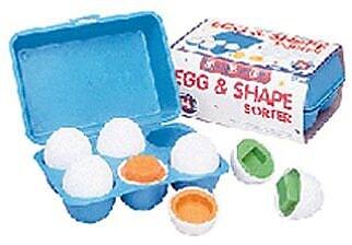"""""Small World Toys Egg and Shape Sorter Ball, 2 3/4""""""""(Dia)"""""" 934946"