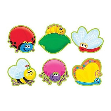 TREND T-10804 3in. DieCut Bugs Mini Accents, Multicolor