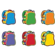 "TREND T-10832 3"" DieCut Backpacks Mini Accents, Multicolor"