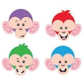 Trend Enterprises® pre-kindergarten - 6th Grades Mini Accents, Monkey Mischief Friendly Faces