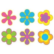 "TREND T-10923 6"" DieCut Classic Flower Power Mini Accents, Multicolor"