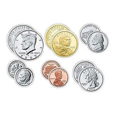 Trend Enterprises® pre-kindergarten - 9th Grades Classic Accents, U.S. Coins