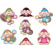 Trend Enterprises® pre-kindergarten - 6th Grades Classic Accents®, Color Monkeys