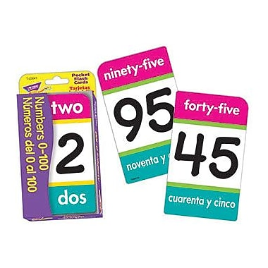 Trend Enterprises® Numbers 0 - 100 Pocket Flash Cards, Grades Kindergarten - 2nd