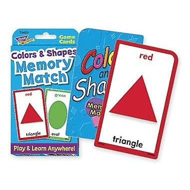 Trend Enterprises® Colors and Shapes Memory Match Cards, Grades pre-kindergarten - 4th