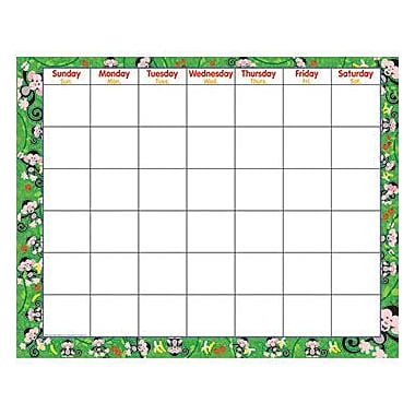 Trend Enterprises® Wipe-Off Monthly Calendar, Monkey Mischief®