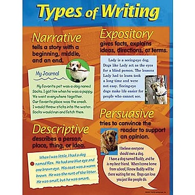 Trend Enterprises® Types of Writing Learning Chart