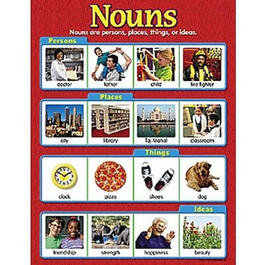Trend Enterprises® Nouns Learning Chart, Grades 1st - 5th