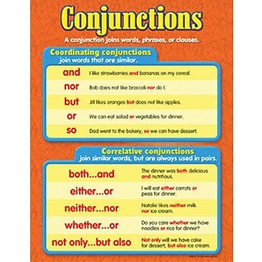 Trend Enterprises® Conjunctions Learning Chart
