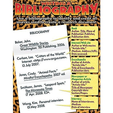 Trend Enterprises® Writing A Bibliography Learning Chart