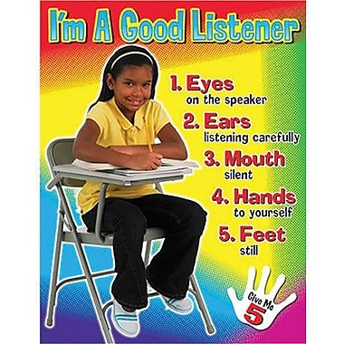 Trend Enterprises® I'm A Good Listener Learning Chart