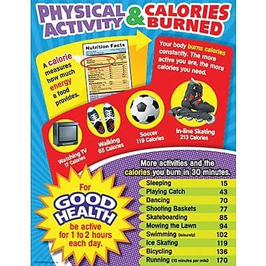 Trend Enterprises® Physical Activity and Calories Burned Learning Chart