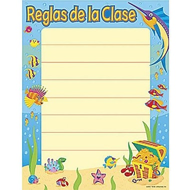 Trend Enterprises® Reglas De La Clase (Class Rules) Spanish Learning Chart