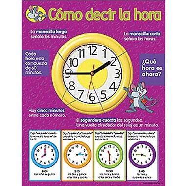 Trend Enterprises® Como decir la hora (Telling Time) Spanish Learning Chart