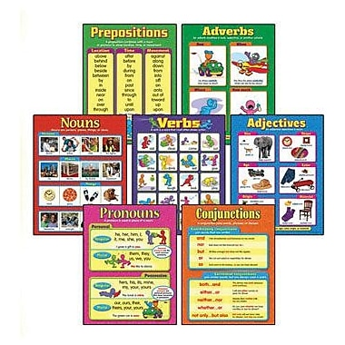 Trend Enterprises® Seven Parts of Speech Learning Chart