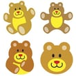 Trend Enterprises® SuperShapes Stickers, Teddy Bears