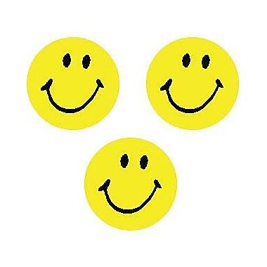 Trend Enterprises® SuperSpots® Stickers, Neon Yellow Smiles