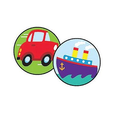 Trend Enterprises® SuperSpots® Stickers, Tiny TranSports
