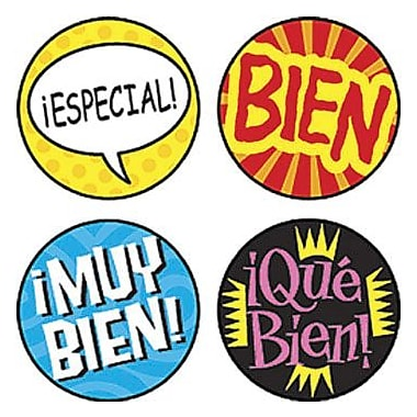 Trend Enterprises® SuperSpots® Stickers, Palabras de Elogio (SP)
