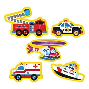 Trend Enterprises® SuperShapes Stickers, Rescue Vehicles