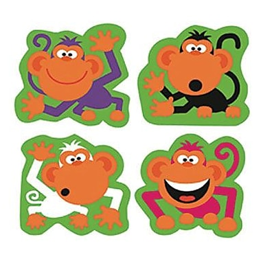 Trend Enterprises® SuperShapes Stickers, Monkey Antics