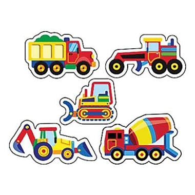 Trend Enterprises® SuperShapes Stickers, Construction Vehicles