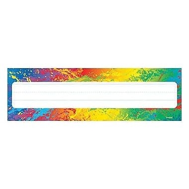 Trend® Desk Toppers® Kindergarten - 4th Grades Name Plate, Splashy Colors
