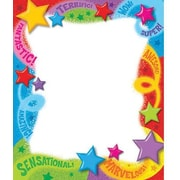 "Trend Enterprises® 7 3/4"" x 6 1/2"" Note Pad, Words ""n Stars"