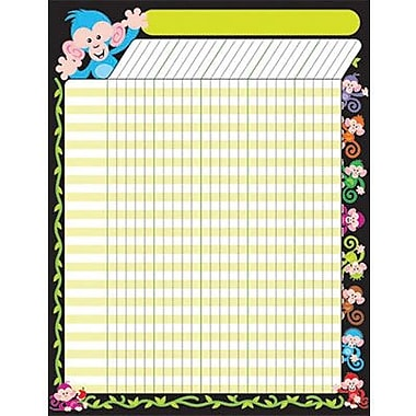 Trend Enterprises® Large Incentive Chart, Color Monkeys