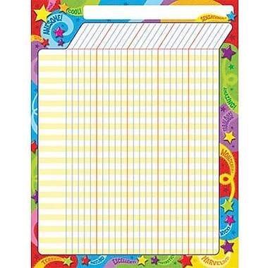 Trend Enterprises® Large Incentive Chart, Praise Words 'n Stars