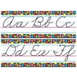 Trend Enterprises® Bulletin Board Set, Stained Glass Alphabet Lines, Zane-Bloser Cursive