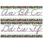 Trend Enterprises® Bulletin Board Set, Stained Glass Alphabet Lines, Zane-Bloser Cursive