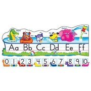 Trend Enterprises® Bulletin Board Set, Pool Party Pals Alphabet Line, Standard Manuscript