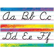 Trend Enterprises® Bulletin Board Set, Splashy Colors Alphabet Line, Modern Cursive