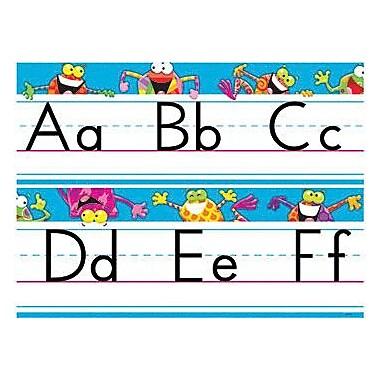 Trend Enterprises® Frog-Tastic® Bulletin Board Set, Alphabet Line, Standard Manuscript