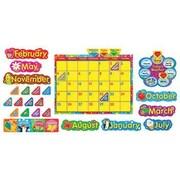 Trend Enterprises® Bulletin Board Set, Wipe-Off® Stars 'n Swirls Calendar (Cling)