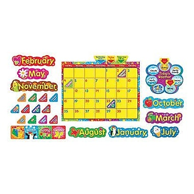 Trend Enterprises® Bulletin Board Set, Calendario Wipe-Off® Con Estrellas y Remolinos