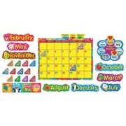 Trend Enterprises® Bulletin Board Set, Calendario Wipe-Off® Con Estrellas y Remolinos