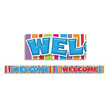 Trend Enterprises® Pre Kindergarten-9th Grades Bulletin Board Border, Colorful Razzle Dazzle Welcome