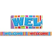 Trend Enterprises® pre-kindergarten-9th Grades Bulletin Board Border, Colorful Razzle Dazzle Welcome